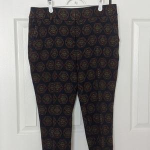 🆕 LOFT Textured Damask Slim Dress Pants